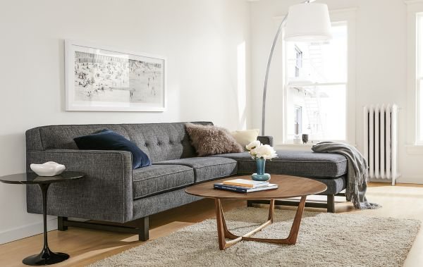 andre sofa wall bed diy with reversible chaise room board side view of andrea