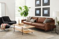 Hess Sofa in Lecco Cognac - Modern Living Room Furniture ...