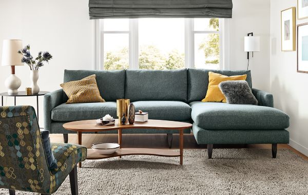 Jasper Sofa with Chaise  Room  Board