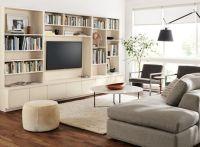 Keaton Bookcases Living Room - Modern Living Room ...