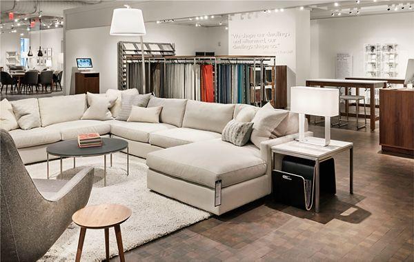 sectional sofas nyc showroom tiendas de baratas en madrid modern furniture store in chelsea new york city room board