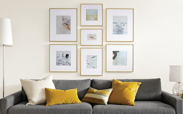 wall frames for living room curtains walmart profile modern picture in gold as shown left 11x14 11x11 middle 8x8 5x7 8x10 right
