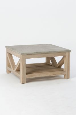 stone teak coffee table