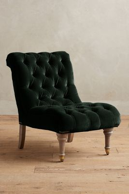Velvet Slipper Chair Velvet Orianna Slipper Chair