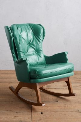 Leather Rocking Chair Premium Leather Finn Rocking Chair