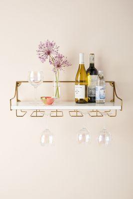 mayfair wall mounted wine glass shelf