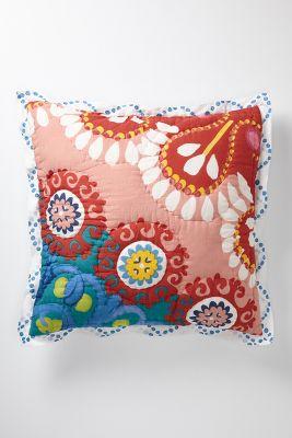 red pillow shams textured