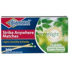 Kitchen Matches Subway Tile Diamond Strike Anywhere Large 300 Ct 3 Pk