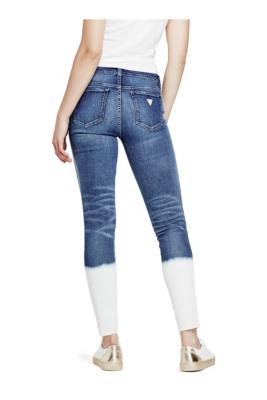 Mid-Rise Dip-Dye Skinny Jeans