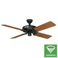 "52"" Black Ceiling Fan 