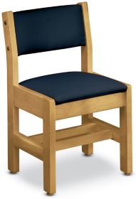 wooden library chair tufted tub wood chairs for the school and public k log inc americana a style upholstered