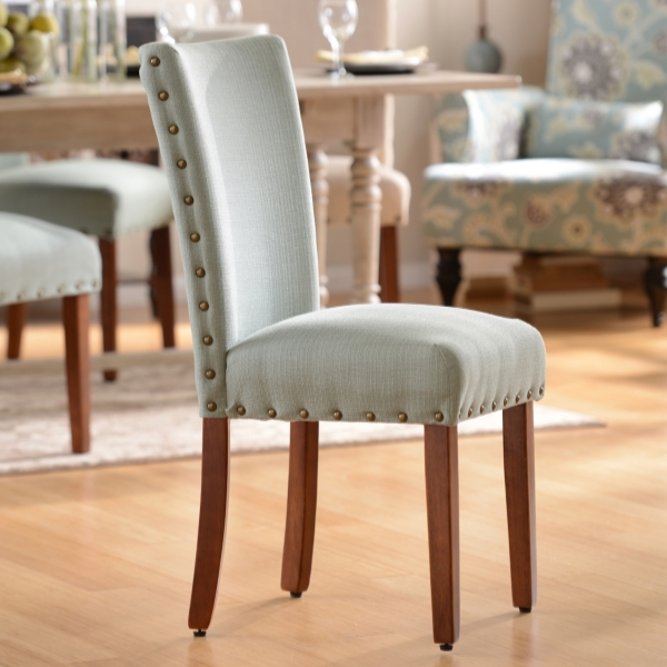 kirklands dining chairs small patio table 2 seafoam parsons chair