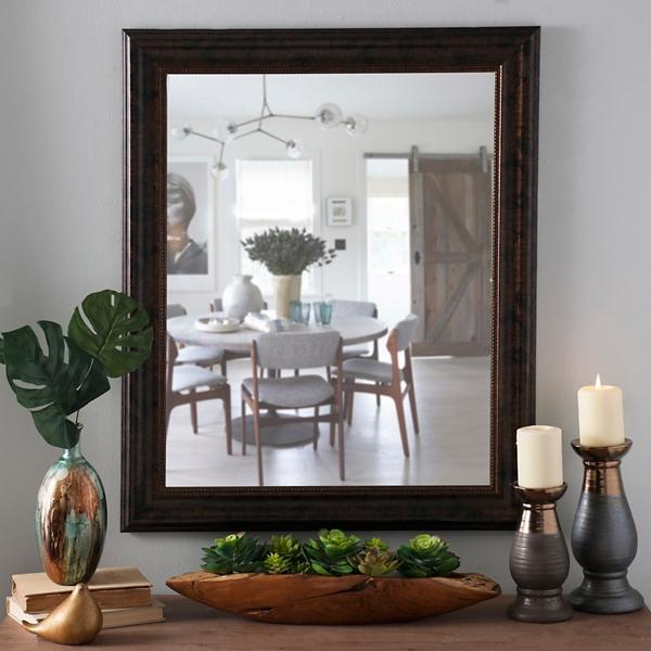 Bronze Framed Mirror 28x34