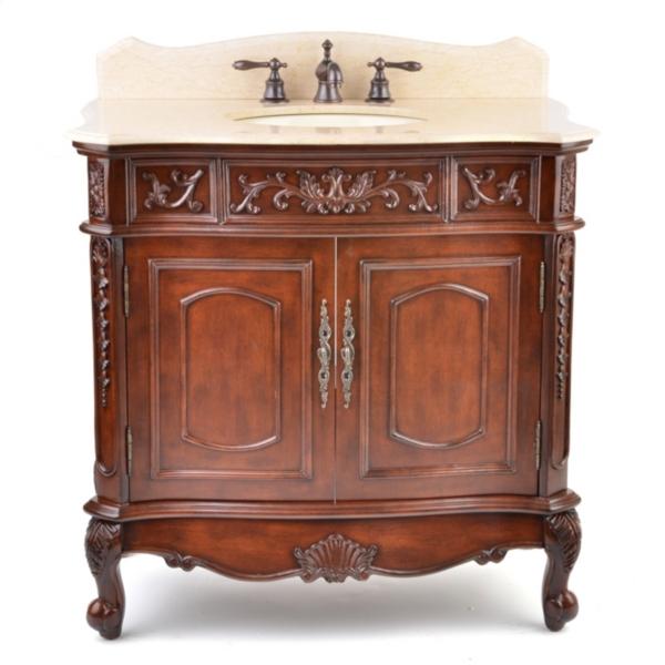 Mahogany Sinclair Vanity Sink 36in  Kirklands