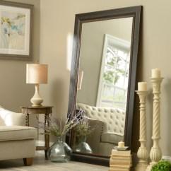 Full Length Mirror In Living Room Colours With Grey Sofa Black Framed 46x76 Kirklands
