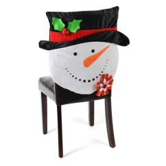 Kirklands Christmas Chair Covers Rustic Wood Kitchen Table And Chairs Snowman Cover