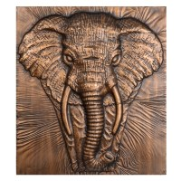 Kirklands Charging Elephant Bronze Metal Wall Art ...