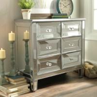 Silver Mirrored Chest   Kirklands