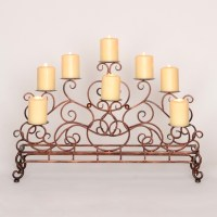 Scrolled Copper Fireplace Candelabra   Kirklands