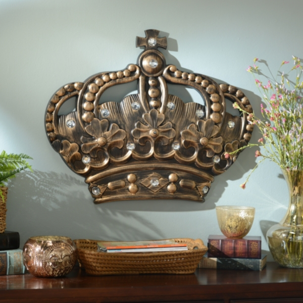 Her Crown Gold Jeweled Wall Plaque Kirklands