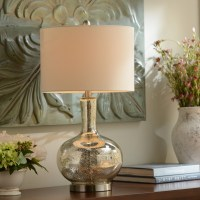 Dynia Silver Mercury Glass Table Lamp | Kirklands