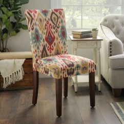 Kirklands Dining Chairs Sling Back Beach Room Ikat Parsons Chair