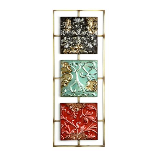 Jewel Tone I Tile Panel