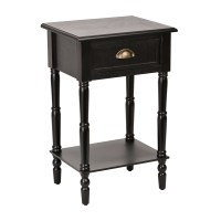 Black Beadboard Accent Table | Kirklands