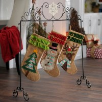 Elegant Scroll Snowflake Stocking Holder