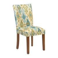 Blue and Green Ikat Parsons Chair | Kirklands