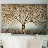 Gold Branches Canvas Art   Kirklands