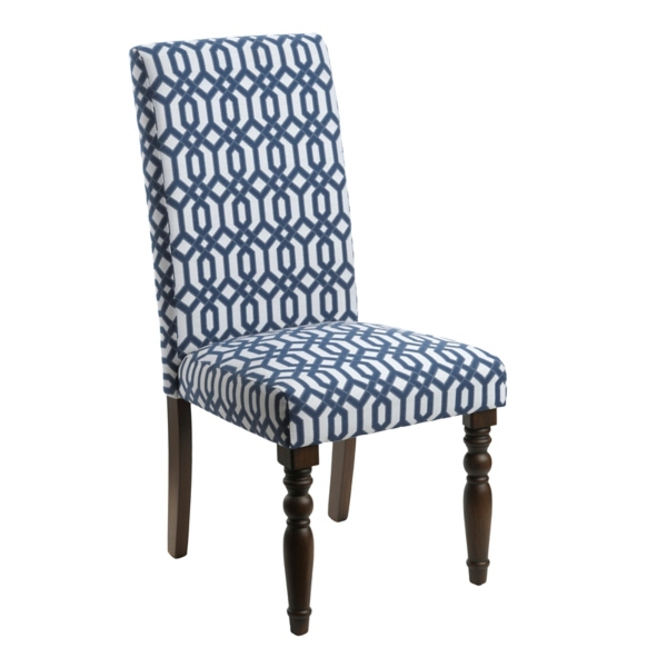 kirklands dining chairs big joe bean bag canada navy lattice parsons chair