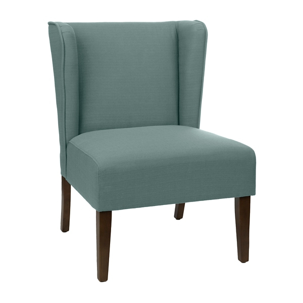 blue wing chair rosewood chairs for sale back accent kirklands