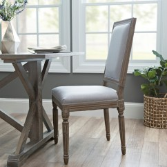 Gray Dining Chair Scoop Back Upholstered Chairs Rectangle Louis Kirklands