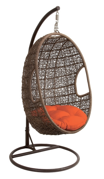 egg chair swing patio chairs with ottoman rattan red cushion kirklands