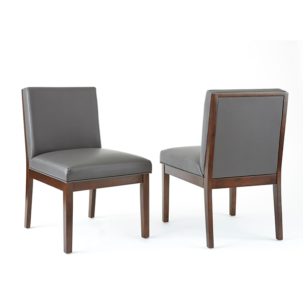 parsons chairs boone high chair dining room kirklands gray emerson leather set of 2