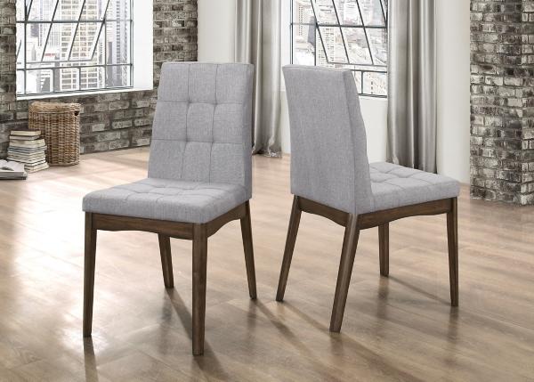 gray dining chair outdoor plastic chairs walmart room kirklands mid century set of 2