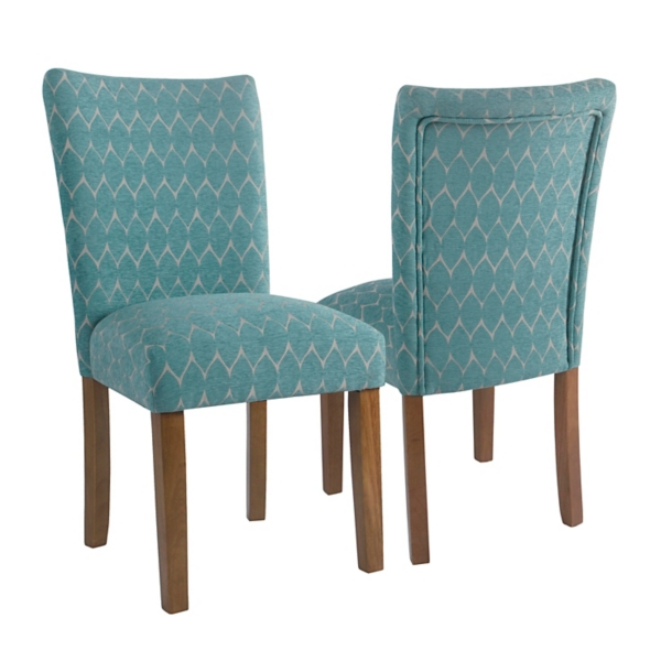 parson chairs cheap navy blue dining chair slipcover room kirklands teal textured parsons set of 2