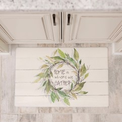 Kitchen Rug White Small Table Mat Rugs Kirklands Home Wreath On Faux Shiplap