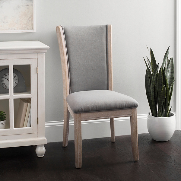 gray dining chair with speakers room chairs kirklands exposed wood