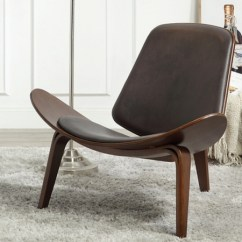Brown Accent Chairs Gel Cushion For Chair Arm Kirklands Wagner Shell Dark