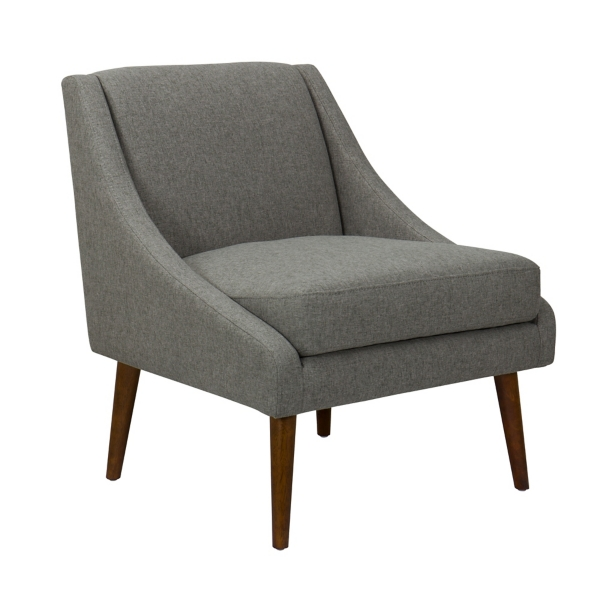 accent chair with arms loll designs adirondack chairs arm kirklands kiley brushed gray modern