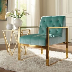 Turquoise Accent Chairs Plastic And Tables For Kids Arm Kirklands Velvet Tufted Gold Frame Chair