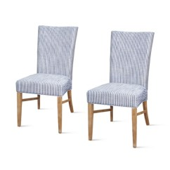 Blue And White Dining Chairs Chair Cover Hire Penrith Room Kirklands Upholstered Set Of 2