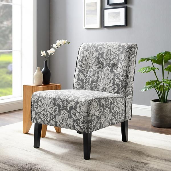 damask accent chair ikea childrens 2 sophie gray kirklands