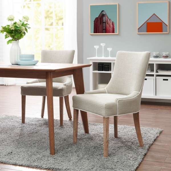 kirklands dining chairs restaurant free shipping room tan carson upholstered set of 2