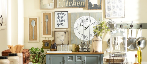 country kitchen wall decor pop up electrical outlets for islands farmhouse kirklands