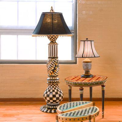 MacKenzieChilds  Courtly Check Floor Lamp