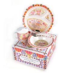 Kitchen Accessories Stores Cabinet Cost Mackenzie-childs | Toddler's Dinnerware Set - Animal Parade