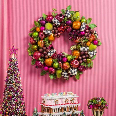 MacKenzie Childs Sugarplum Wreath Small